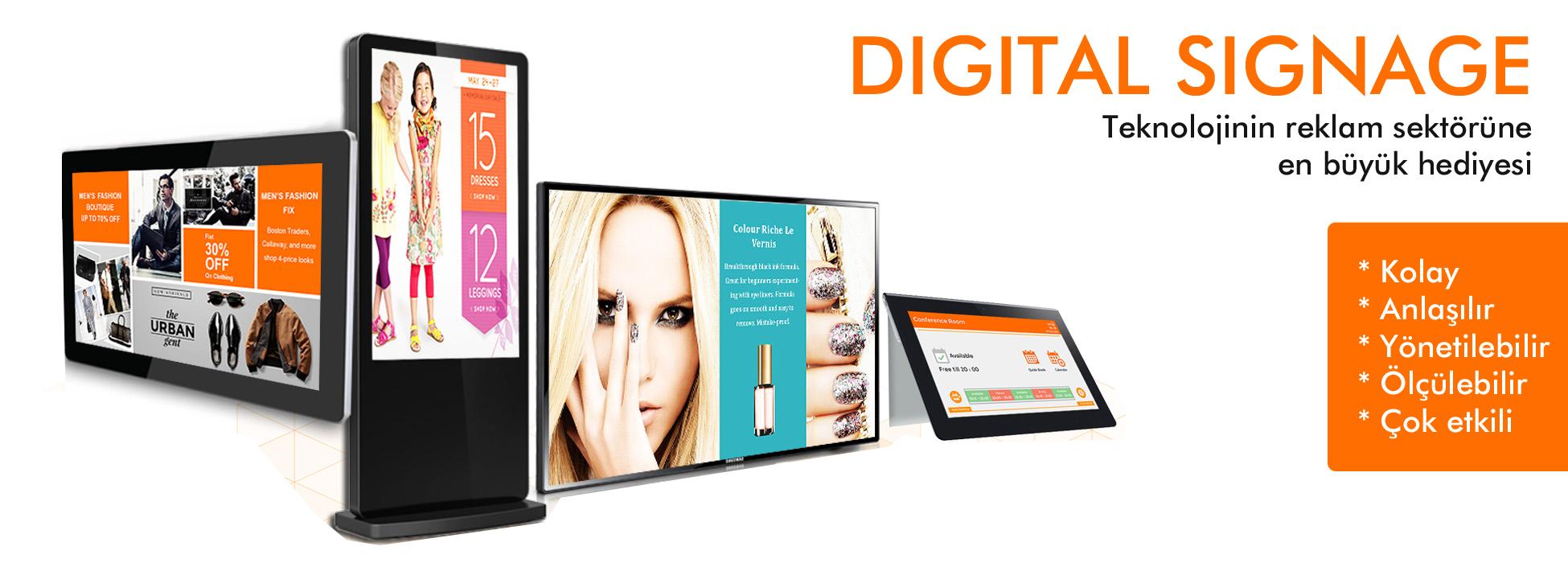 digital signage örnekleri-fiyatlari